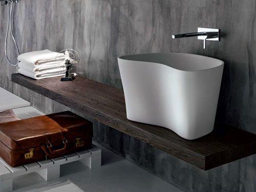 Rustieke houten wastafel werkblad van Falper Design