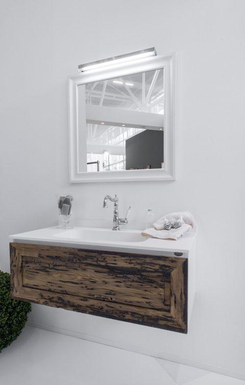 Rustieke houten zwevende badkamermeubel van blue provence badkamers voorbeelden - Rustieke badkamer meubels ...