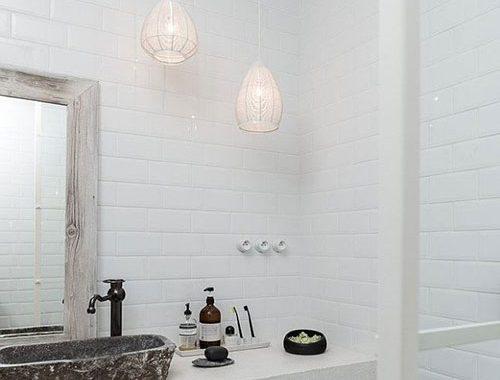 Scandinavisch industriële badkamer