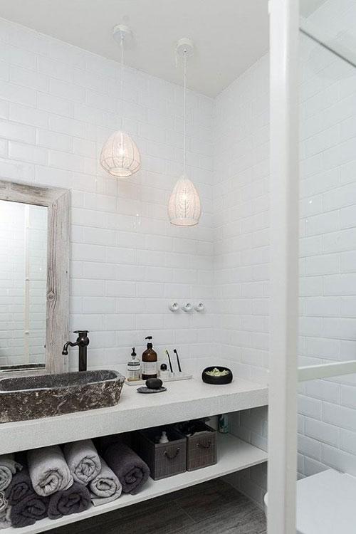 Scandinavisch industriële badkamer - Badkamers voorbeelden