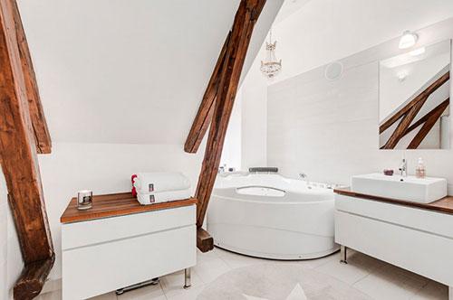 Scandinavische penthouse badkamer