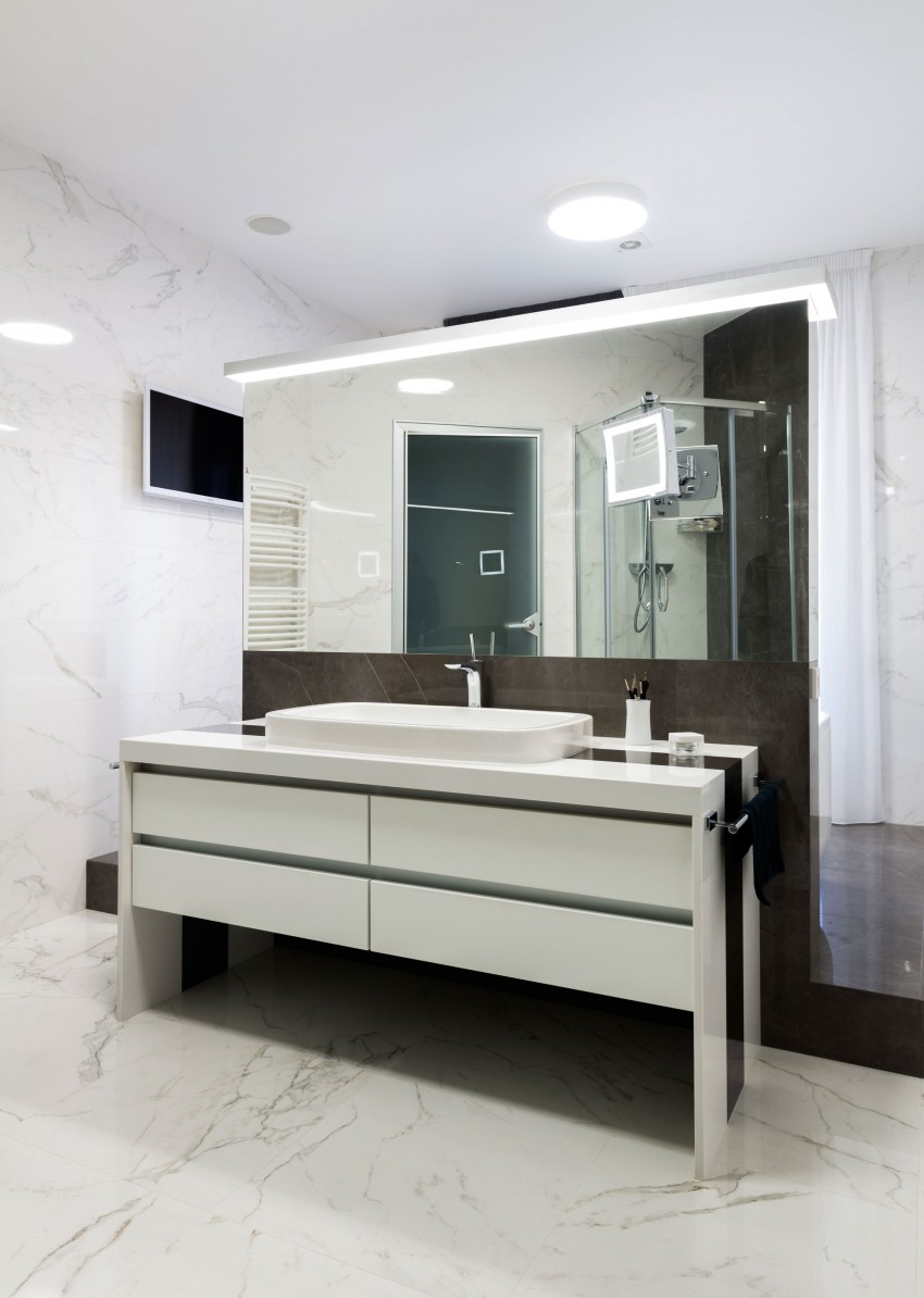 Creatieve badkamer indeling badkamers voorbeelden - Badkamer scheiding ...
