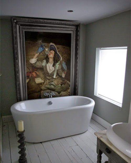 Schilderij in de badkamer badkamers voorbeelden - Kamer schilderij ideeen ...