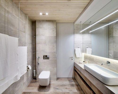 Serene badkamer met hout