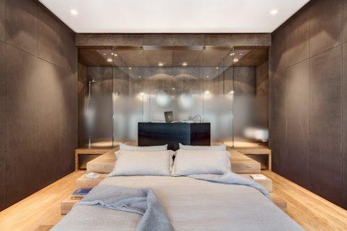 Badkamers voorbeelden ? Smalle badkamer achter slaapkamer