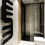 Smalle badkamer met glamorous ontwerp