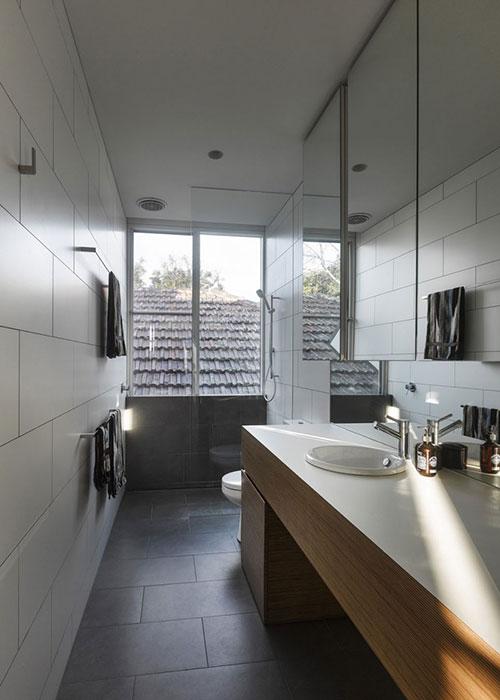 badkamer, smalle badkamers, praktische badkamer, praktische indeling