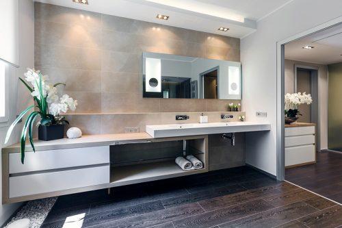 Spa badkamer met natuurlijke kleuren badkamers voorbeelden for Master arredamento interni