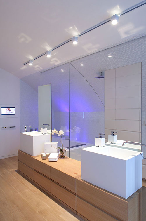 Speels modern badkamer ontwerp - Badkamers voorbeelden