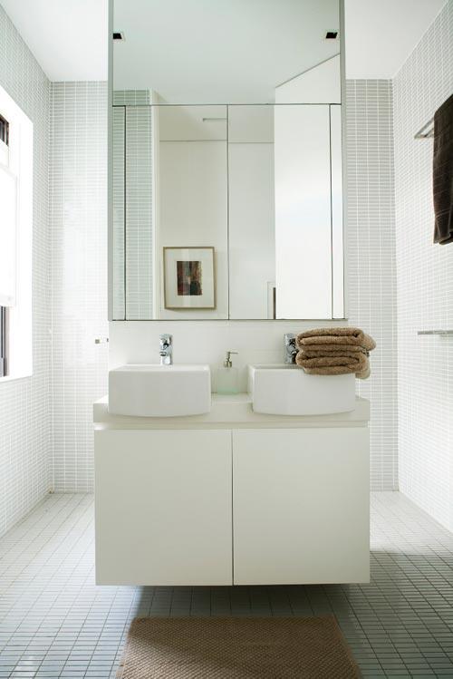 Speelse badkamer indeling