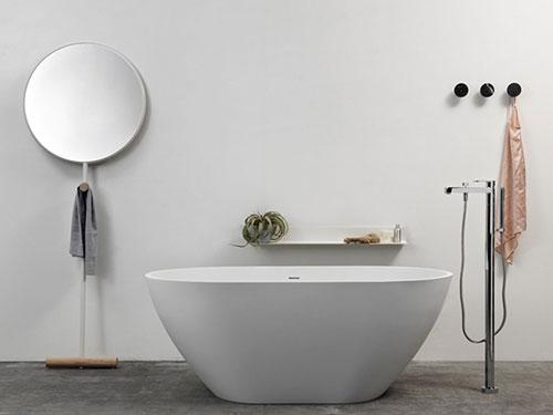 Staande badkamerspiegel is van Giulietta
