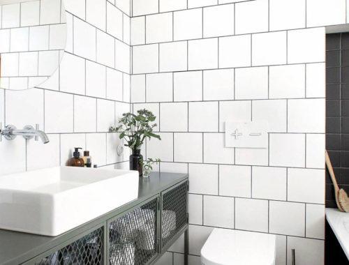 Stalen badkamermeubel