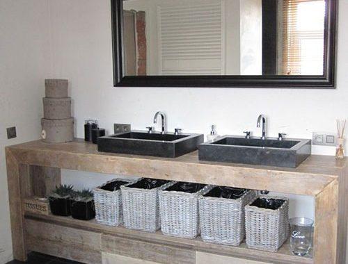 Steigerhouten badkamermeubel