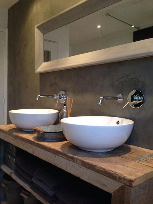 Steenstrips In Badkamer ~ Badkamers voorbeelden ? Steigerhouten badkamermeubel
