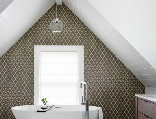 Stijlvolle badkamer traditionele Amerikaanse woning