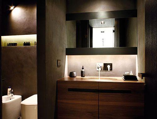 Stijlvolle badkamer zonder bad