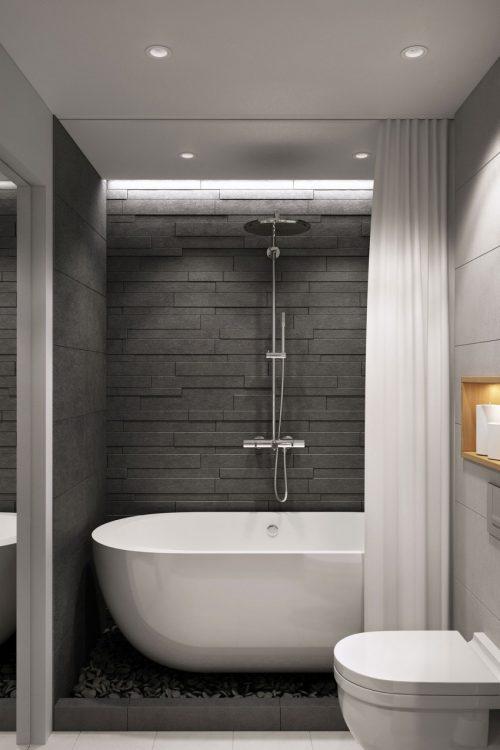 Ensuite Bathroom Ideas Grey : Stijlvolle moderne badkamer door geometrium
