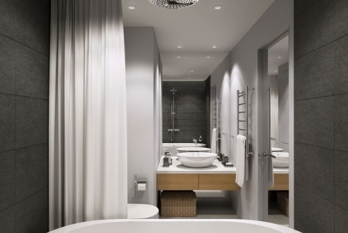 Stijlvolle moderne badkamer door Geometrium