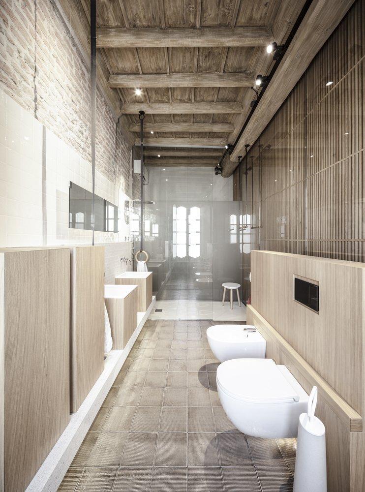 Stoere badkamer met een karakteristiek modern ontwerp