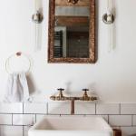Stoere eclectische badkamer uit Amsterdam
