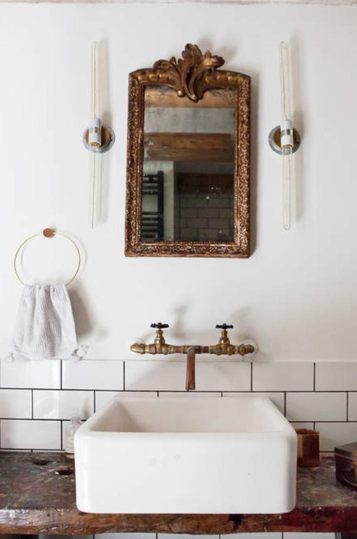Stoere eclectische badkamer uit Amsterdam - Badkamers voorbeelden