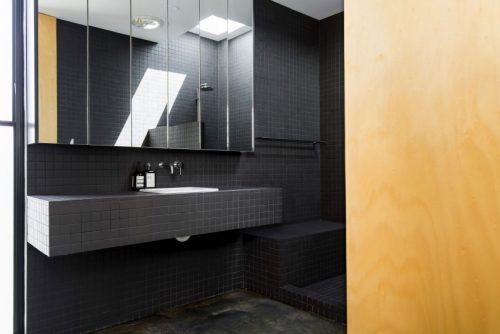Stoere half open badkamer badkamers voorbeelden - Open badkamer ...