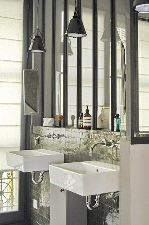 Stoere half open badkamer in loft slaapkamer badkamers voorbeelden - Slaapkamer open badkamer ...
