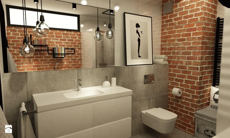 Stoere New York style loft badkamer - Badkamers voorbeelden