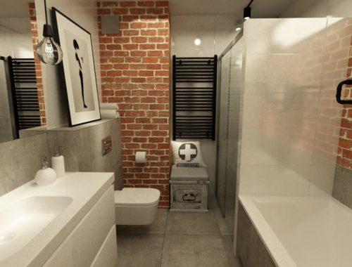 Stoere New York style loft badkamer