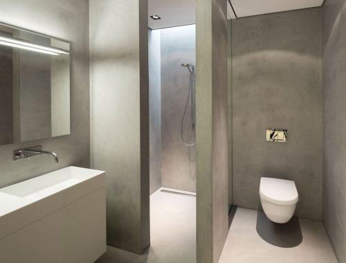 Strakke badkamer met tadelakt