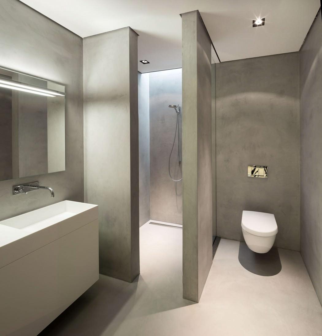 Strakke badkamer met tadelakt - Badkamers voorbeelden