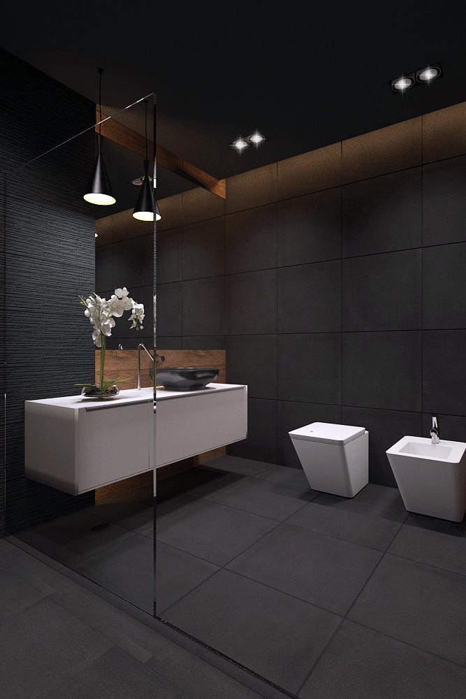 Strakke moderne badkamer met een luxe elegante sfeer