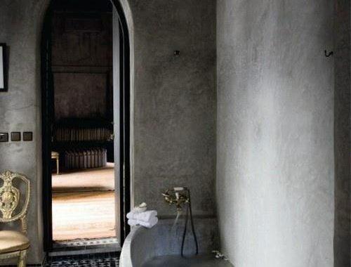 Antieke badkamer met koper badkamers voorbeelden for Porte de hammam