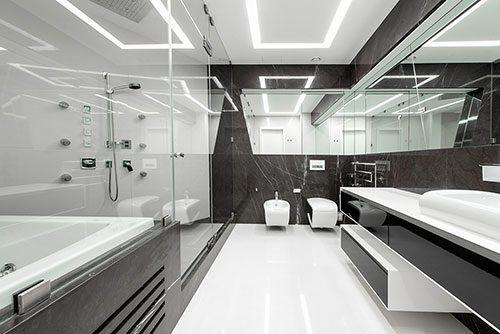 Badkamers Zwart Wit : Badkamers voorbeelden ? ultramoderne zwart wit ...