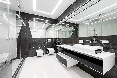 Badkamer Zwart Wit : Badkamers voorbeelden » Ultramoderne zwart wit ...