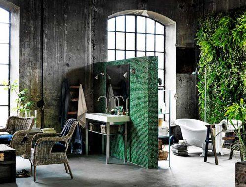 Urban Jungle badkamer met IKEA