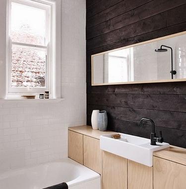Verbouwing van een kleine Scandinavische badkamer