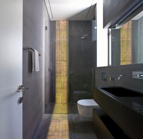Verlichting in vloer en muur