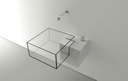 Vierkante wastafel