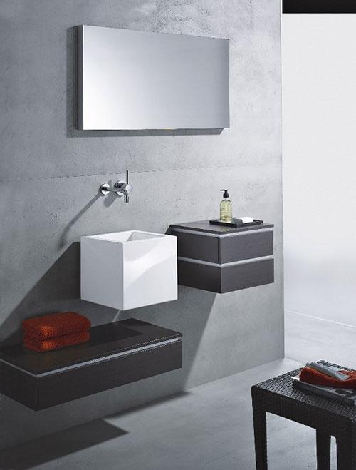 Vierkante wastafel badkamers voorbeelden - Moderne wastafel ...
