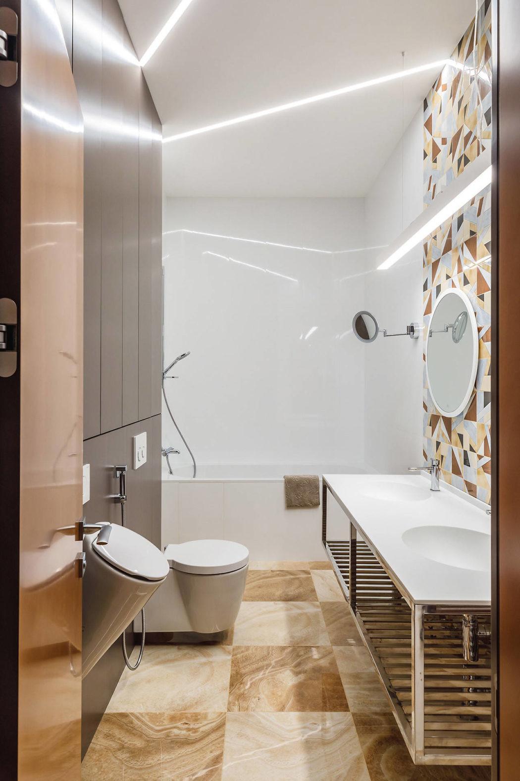 Vintage badkamer door interieurarchitect Andrei Popov