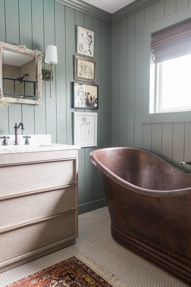 vintage koperen vrijstaand bad