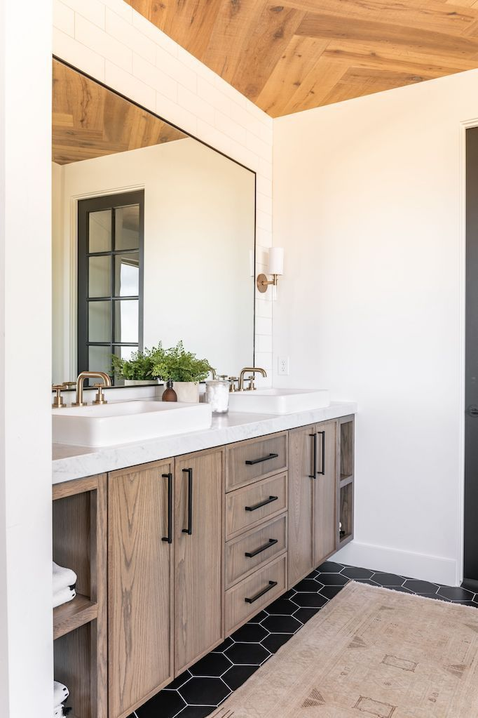 Vintage vloerkleed badkamer