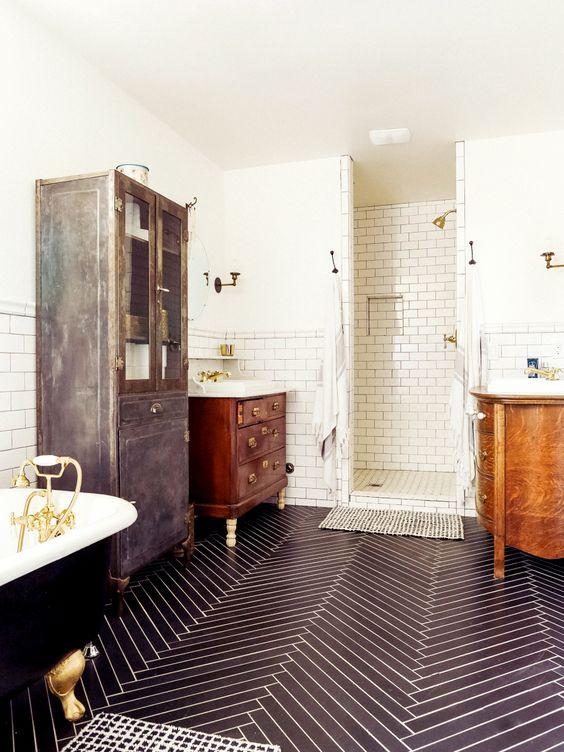 Visgraat Tegels In Badkamer Badkamers Voorbeelden