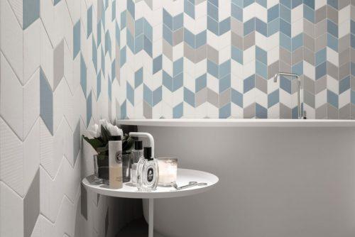 Visgraat wandtegels in badkamer badkamers voorbeelden - Badkamer wandtegels ...