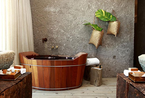 Vrijstaand bad in oude stijl badkamers voorbeelden - Badkamermeubels oude stijl ...
