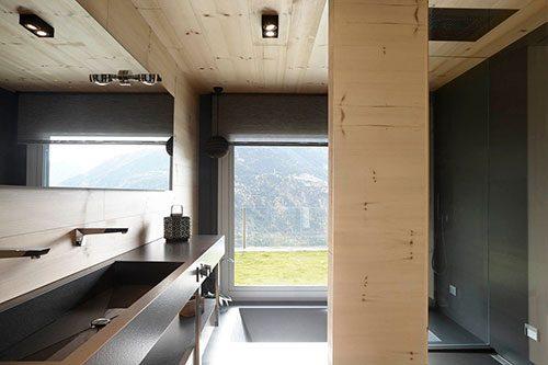 Vurenhout en graniet grijs