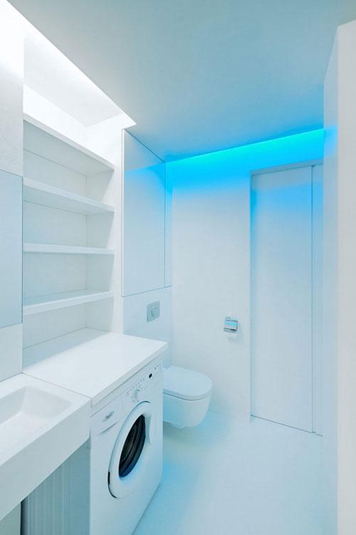 Wasmachine in kleine badkamer