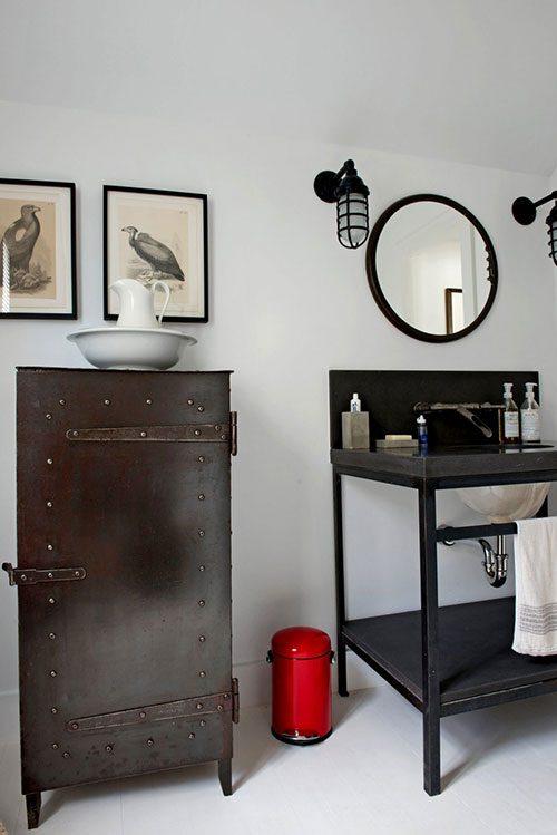 Witte badkamer met vintage industri le stijl badkamers voorbeelden - Badkamermeubels vintage ...