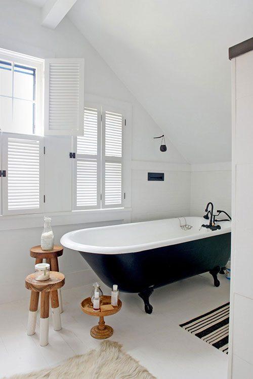 Badezimmer schwarz turkis